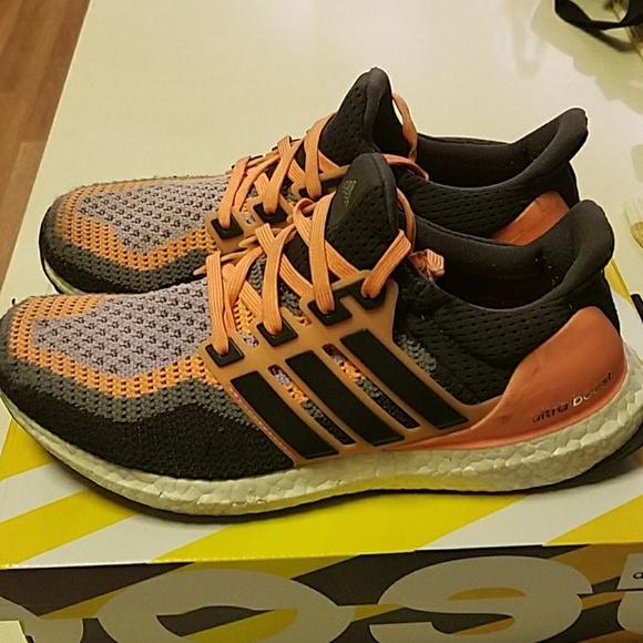 Adidas zapatos  mujer ultraboost SZ 85 purpleorange poshmark